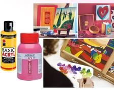 Acrylfarben in Flaschen