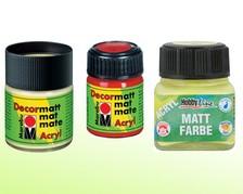Acrylfarben im Glas