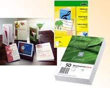 Falt- & Briefkarten, PC bedruckbar