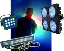 LED-Strahler mehrfarbig
