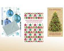 Weihnachts-Geldscheinkarte