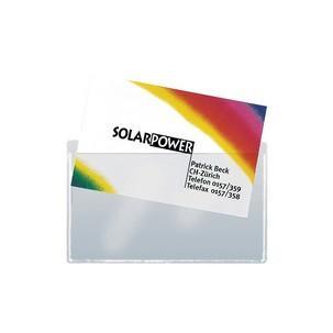 Sigel Visitenkarten Taschen Aus Pp Selbstklebend Glasklar Für Karten Bis 90 X 55 Mm Mit Selbstklebe Rückseite Stärke Der Unteren Klebenden Folie