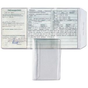 Hetzel Ausweishülle Pvc 3 Fach 0 17 Mm Format Din A7 Für Den Markt D Weichfolie 2 X Innen Offen