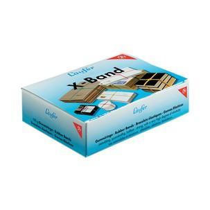 X-Bänder im Karton