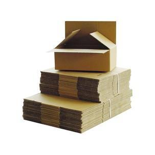 Symbolbild: Wellpapp-Faltkarton - kleines Volumen 80