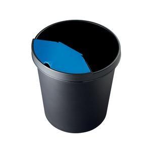 helit Papierkorb rund 18 Liter lichtgrau PE