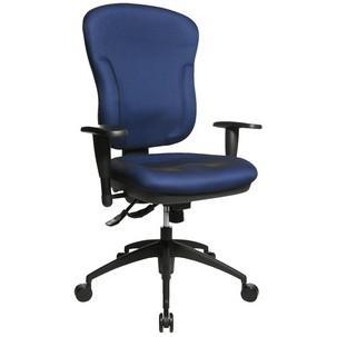 "Bürodrehstuhl ""Wellpoint 30 SY"", blau mit optionaler Armlehne Typ K2(B)8060 BC0"