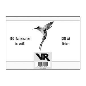 Symbolbild: Karteikarten, Verpackung56410 weiß bla