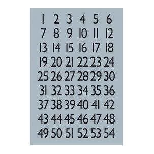 Zahlen-Sticker, Folie silber4134