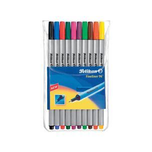 Pelikan Fineliner 96 farblich sortiert 10er Etui Strichstärke 0,4mm