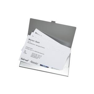 Visitenkartenbox Visitenkartenhalter aus Aluminium