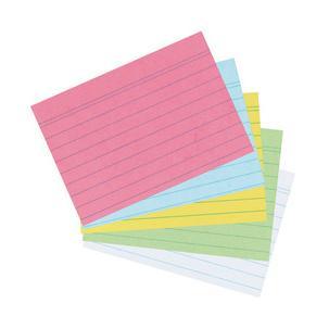 Herlitz Karteikarten Din A5 Liniert Weiß Aus Papier 170 G Qm Holzfrei Linienfarbe Blau Doppelte Kopflinie Beinhaltet 100 Karten