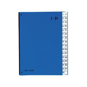 PAGNA Pultordner Color DIN A4 1-31 31 Fächer rot Vor-Ordner Sortier-Mappe