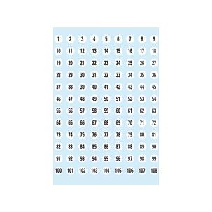 Zahlen-Sticker - rund (4128)4128