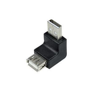 USB 2.0 Adapter, USB-A Stecker - USB-A Kupplung, 90 Grad gewinkelt AU0025
