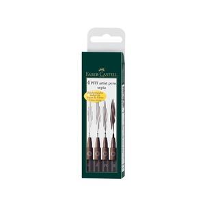 Tuschestift PITT artist pen, 4er Etui - sepia167101