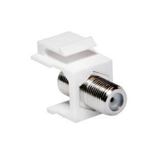 Keystone Modul F-Kupplung, weißNK0018