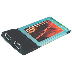 FireWire 1394a CardBus Adapter, 2 PortEX-6600E