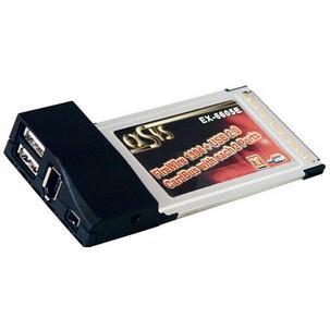 FireWire 1394a + USB 2.0 CardBus Adapter