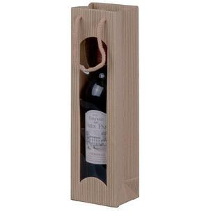 smartboxpro Flaschentüte für 2 Flaschen natura