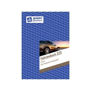 Avery Zweckform® 1222 Fahrtenbuch steuerlicher km-Nachweis 32 Bl. A5 weiß