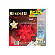"folia Faltblätter Bascetta-Stern /""Transparentpapier/"" 150 x 150 mm 32 Blatt weiß"