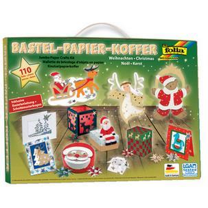 Bastelpapier Weihnachten.Folia Bastelpapier Koffer Weihnachten 110 Teilig Bedruckter Koffer Mit Kunststoff Tragegriff Bestückt Mit Vielen Verschiedenen Papiersorten Und