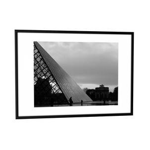 Kunststoffrahmen Sevilla 50x70 cm schwarz Acrylglas
