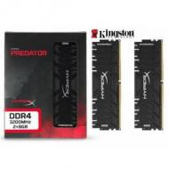 KINGSTON 16GB RAMKit 2x8GB DDR4 3200MHz CL16 XMP HyperX Predator Black HX432C16PB3K2 16