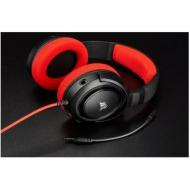Headset corsair hs35 stereo gaming headset red (ca-9011198-eu)