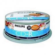 PHILIPS 25xCDR 700MB 80Min 52x inkjet printable Cake Box