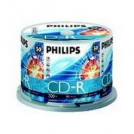 PHILIPS 50x CDR 700MB 80Min 52x Cake Box