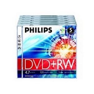 PHILIPS 5xDVD+RWDW4S4J05F/10