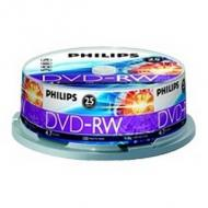 PHILIPS 25xDVD-RW 4,7GB 120Min 4x CakeBox