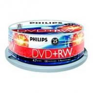 PHILIPS 25xDVD+RW 4,7GB 120Min 4x CakeBox