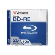 Bluray verbatim 25gb 1pcs bd re jew.c 2x single layer 43614 einzeln