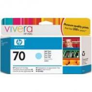 Original Vivera Tinte HP 70 (C9390A) für hp, cyan light Inhalt: 130 ml HP DesignJet 2100 / 3100 / Z3100 / Z3100GP (C9390A)