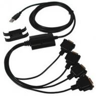 USB 2.0 - RS232 Adapterkabel, 4 Port