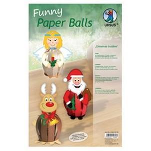 """Designstreifen Funny Paper Balls """"Christmas Buddies""""23320099"""