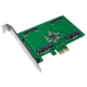 PCI-Express Karte, 2 x mSATA SSDPC0078